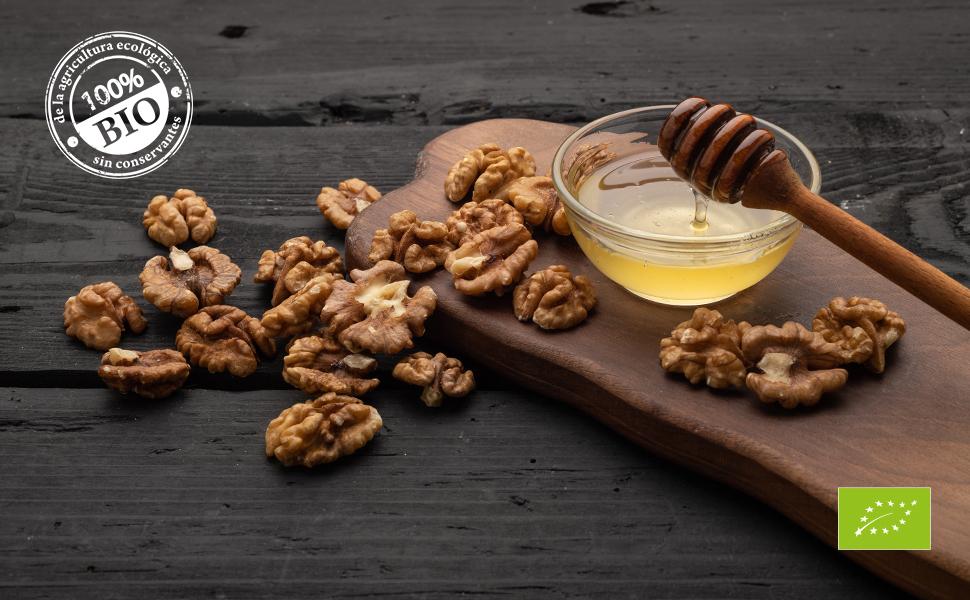Biojoy Nueces peladas orgánicos, Juglans regia (1 kg Mitades): Amazon.es: Alimentación y bebidas