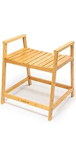 Waterproof Shower Chair Seat Stool shower bench bamboo wood shower bench waterproof shower stool