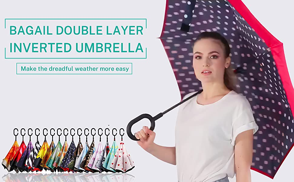 Double Layer Inverted Inverted Umbrella Is Light And Sturdy Puppies Blue Winter Coat Red Fluffy Reverse Umbrella And Windproof Umbrella Edge Night Re