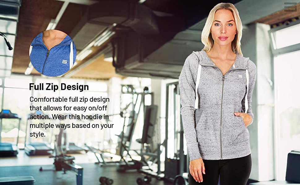 Convenient full zip design for easy on and off action and style.