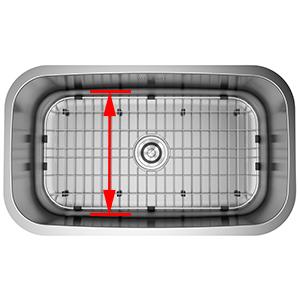 farm sink bottom grids