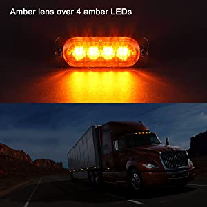 amber led top clearance side marker light for trailers trucks
