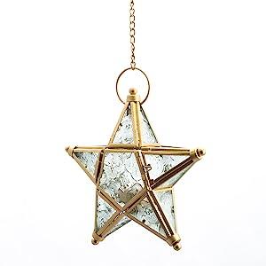 gold star lantern