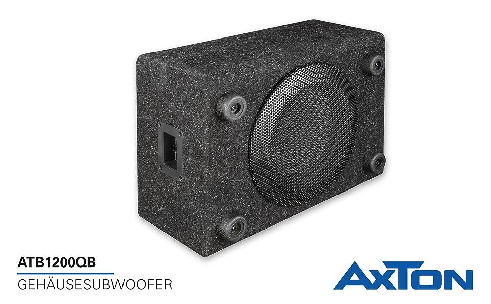 Axton ATB120QB: kompakter 20 cm / 8 Zoll Gehäuse Subwoofer,
