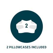 2 pillow cases included for pillows for cpap users wedge