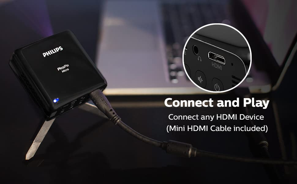 connect and play HDMI device mini HDMI cable