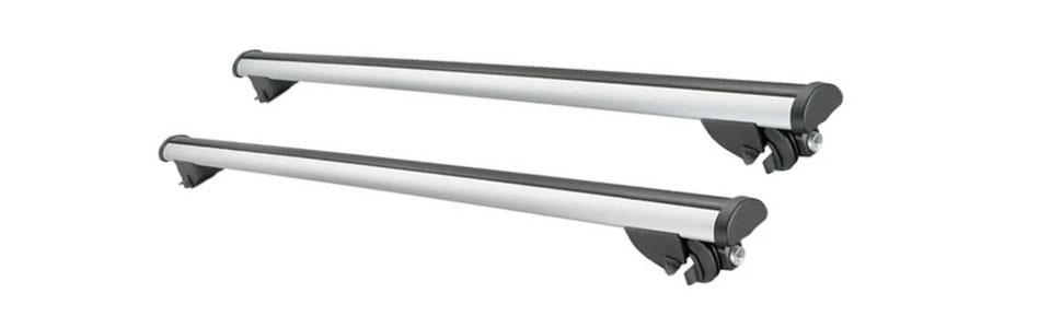Roof Rack Accessories Silver Car Bike Cargo Carrier Aluminum Luggage Set Bars Top Ski Crossbar