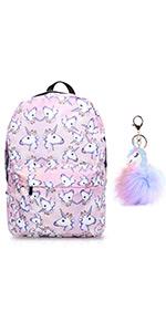 Unicorn Backpack Lightweight Water Resistant Rainbow Student Travel Backpacks