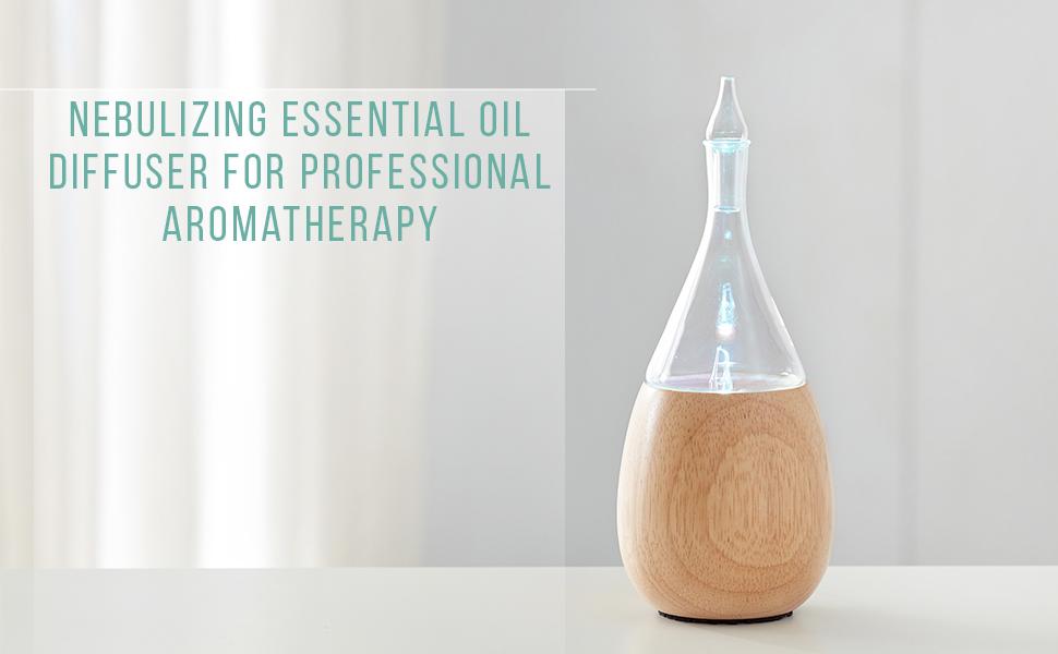 organic aromas raindrop light essential oil nebulizing diffuser