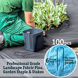 staples 9 gauge steel anti rust galvanized pins pegs sod inflatables soil holding hold anchor pin