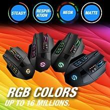 RGB  UtechSmart Venus Pro RGB Wireless MMO Gaming Mouse, 16,000 DPI Optical Sensor, 2.4 GHz Transmission Technology, Ergonomic Design, 16M Chroma RGB Lighting, 16 programmable Buttons, Up to 70 Hours 409a2a61 2425 4e60 b421 cc4f467350e2
