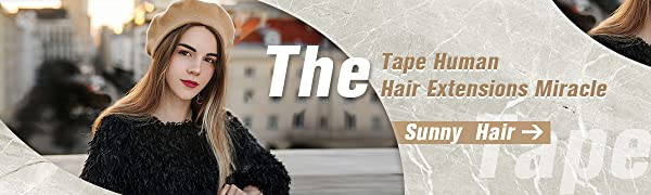 Sunny Hair Tape in Human hair Extension