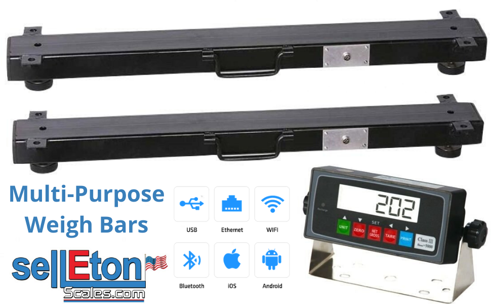Selleton 36 2500 Lb X 5Lb Multi-Purpose Weigh Bars//Livestock Scale//Cage