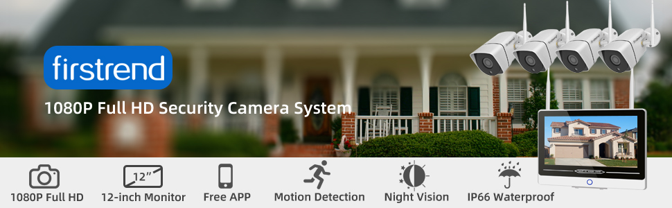 1080P Full HD Security Camera System with monitor