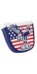 usa eagle mallet putter cover magnetic