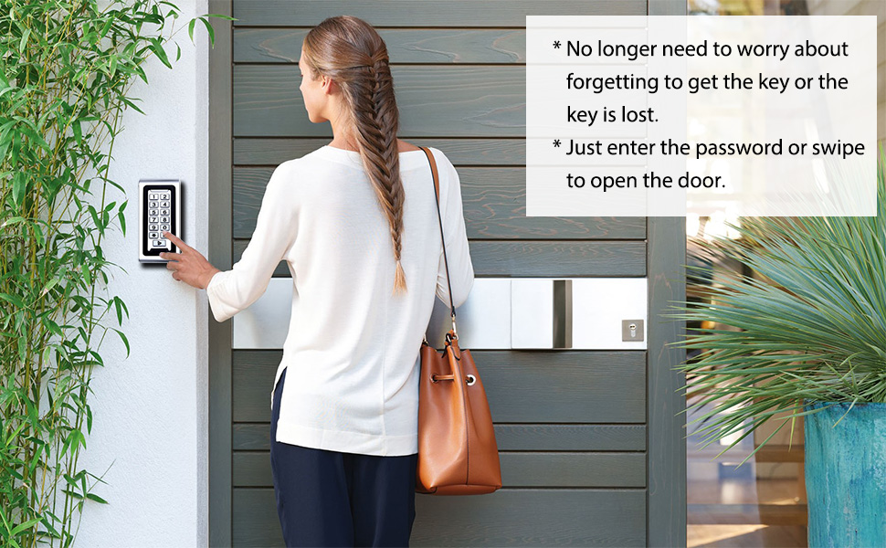 access control system open the door