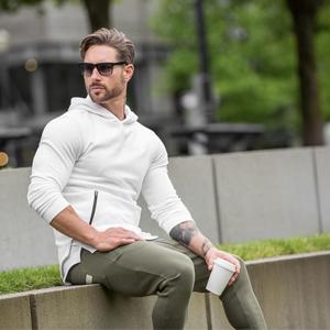 men's white hoodie
