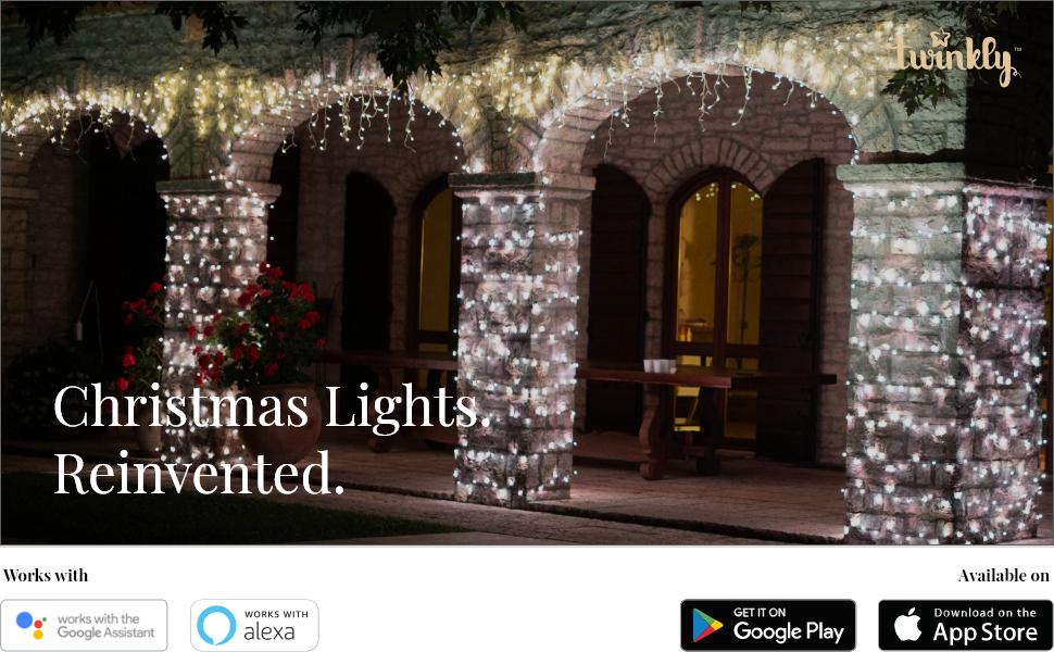 Twinkly LED icicle lights Christmas decoration outdoor indoor wedding music sync app voice control