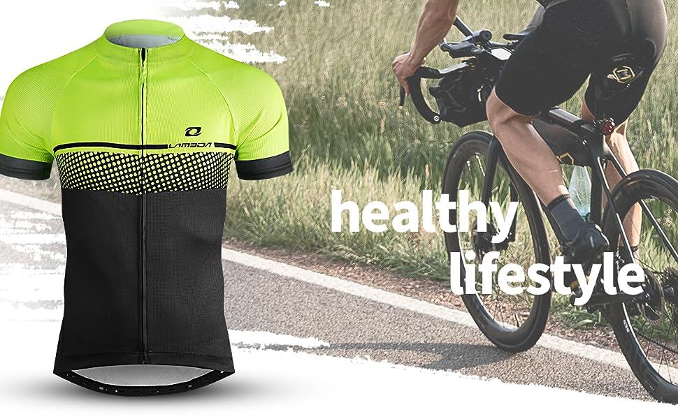 LAMEDA Maillot Ciclismo Hombre Ropa Camiseta Bicicleta MTB con ...