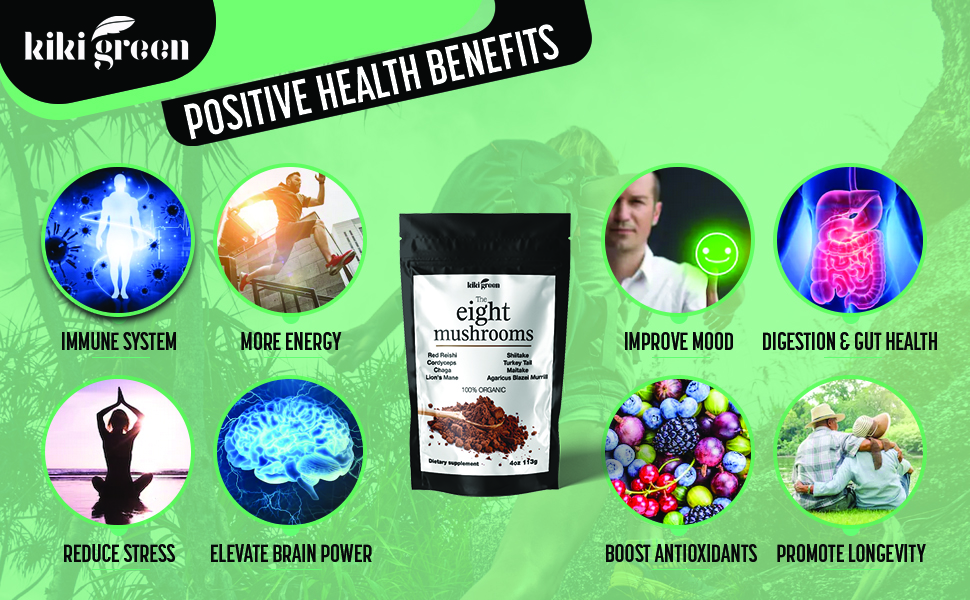 The eight mushroom powder health benefits