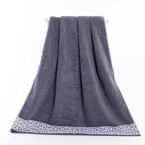 gray bath towel