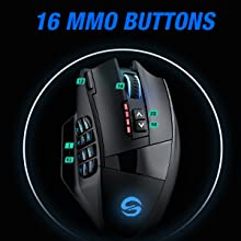 16 MMO Buttons,12 MMO Macro Buttons