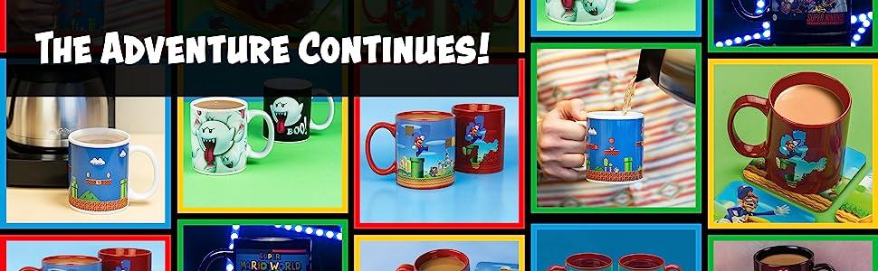 Mario Heat Changing Mug Grid
