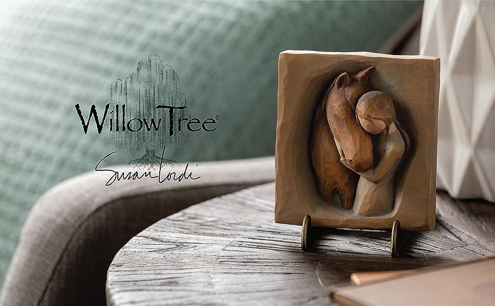 Willow Tree Quiet Strength Plaque, figure cradling horse's head.
