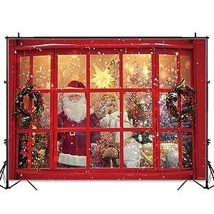 Allenjoy 7x5ft Frohe Weihnachten Weihnachtsmann Kamera