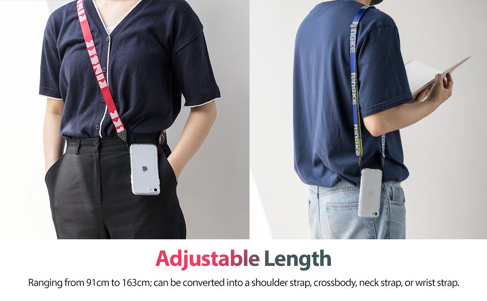 Ringke Lanyard Shoulder Strap Designed for Cell Phone Cases, Keys, Cameras & ID QuikCatch