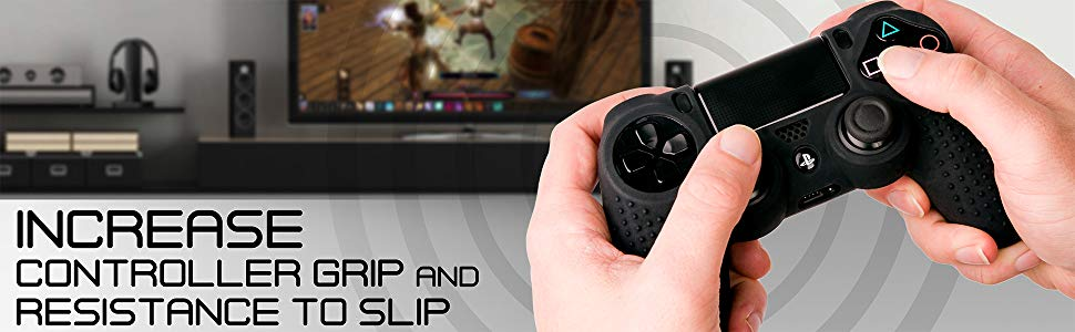 Silicone Anti-Slip Skin Grip Compatible with PS4 DualShock 4 Controller