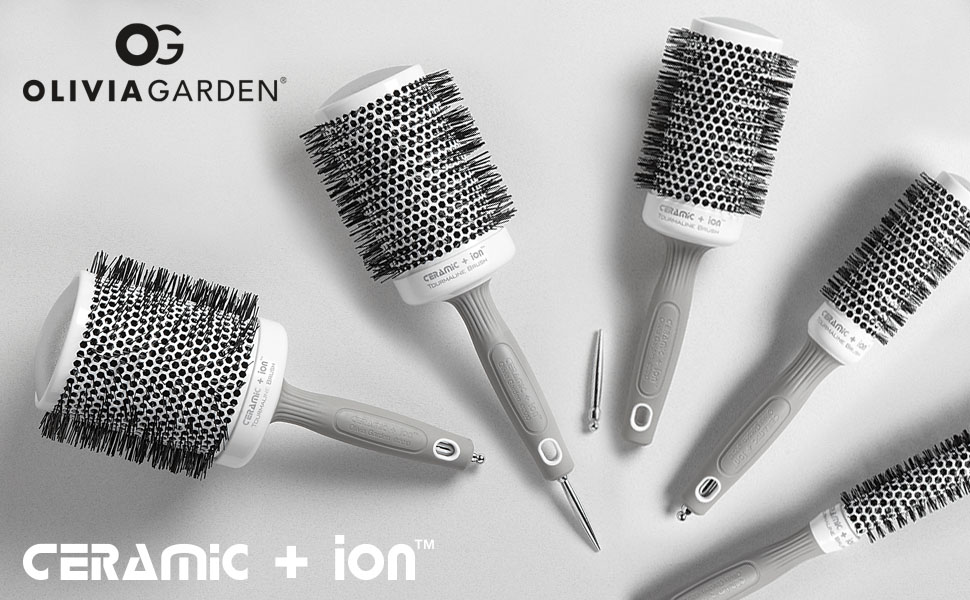 Ceramic+ion Thermal Brush Collection by Olivia Garden