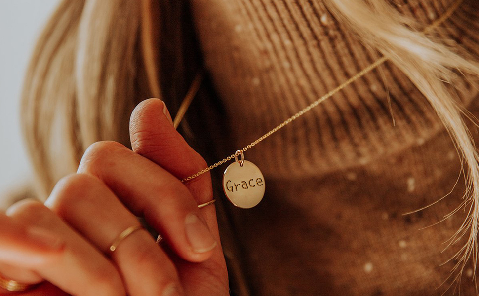 Personalized Name Disc Necklace