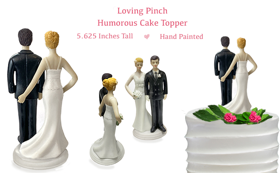 Loving Pinch Love Wedding Cake Topper Figurine