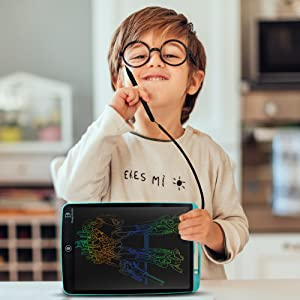 LCD stylus and string colourful writing board