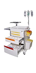 MS3C-400CR Lite Emergency Hospital Crash Cart with Accessory Package