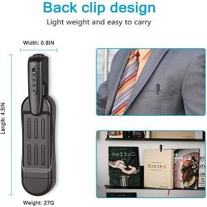 BACK CLIP DESIGN CAMERA