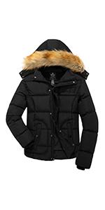 KEFITEVD Mens Winter Jacket Snow Warm Parka Jacket Thicken Fleece Jackets Softshell Cotton Coat Hiking with Detachable Hood Khaki