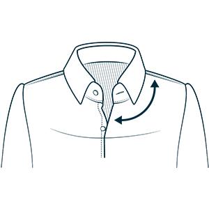 Spread Collar Mens Dress Shirt