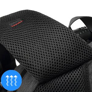 Breathable shoulder strap