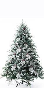 Snow Christmas Tree with Red Berry