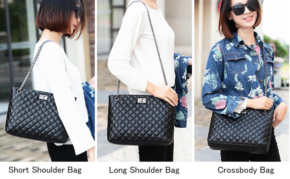 As a crossbody bag or a shoulder bag