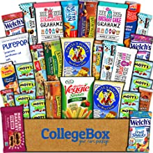 snacks care package gift box pack college students school boy girl healthy bars nutrition food study