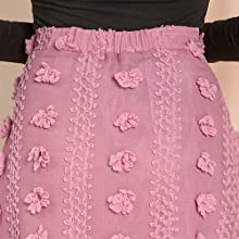 Allegra K Women's High Waist Pom Pom Textured A-line Midi Skirts