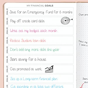 My Financial Goals page
