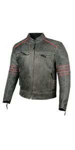 Distress Leather Jacket