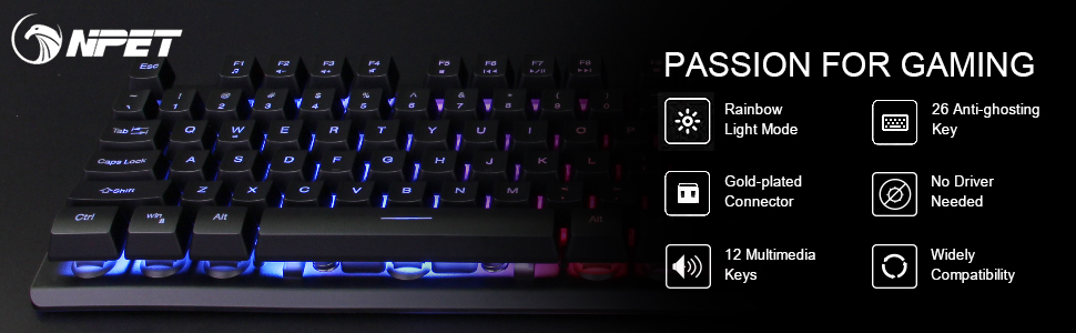NPET gaming keyboard