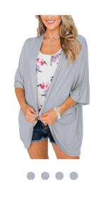 gray kimono cardigan