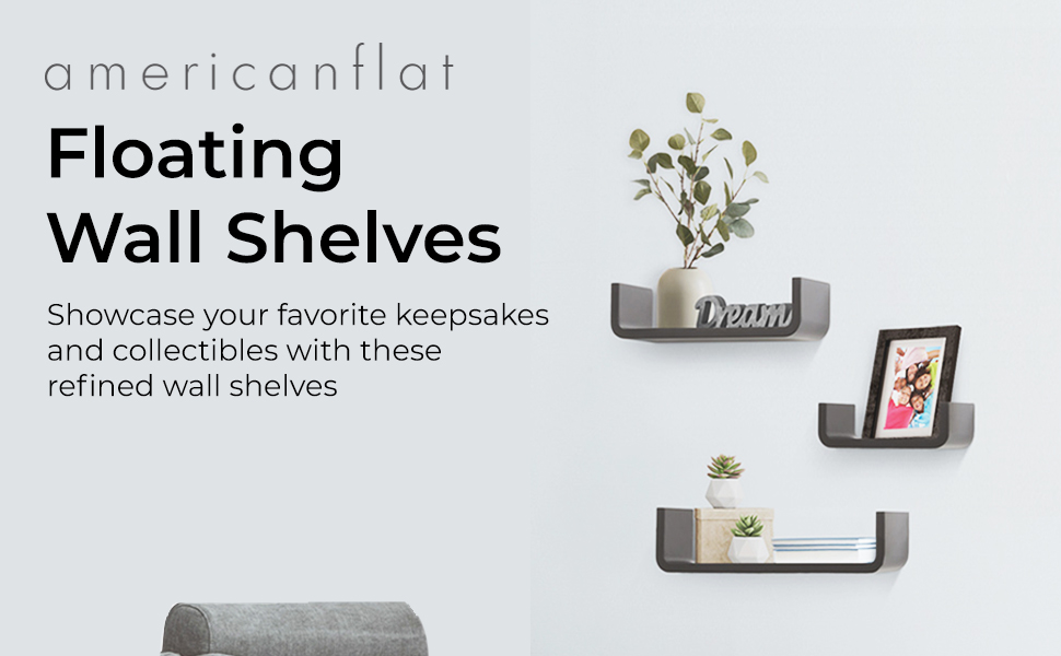 shelves are made of durable wood composite