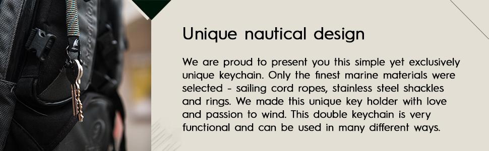 Handmade rope keychain